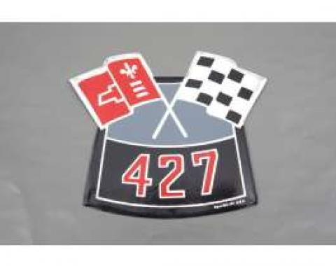 Camaro Air Cleaner Decal, 427 Crossed Flags, 1969