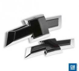Camaro Emblem Insert, Gloss Black Powder Coat, Front And Rear, 2010-2013