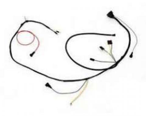 Camaro Engine Wiring Harness, V8, Small Block, With Gauges & TH400 Automatic Transmission, 1972