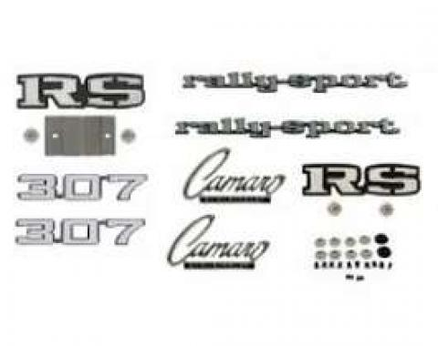 Camaro Emblem Kit, For Rally Sport (RS) With 307ci, 1969