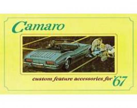 Camaro Custom Feature Accessories Booklet, 1967