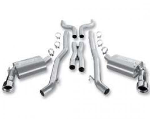 Camaro Exhaust System, Borla Cat-Back, Three Inch, With X Pipe 6.2L, 2010-2011