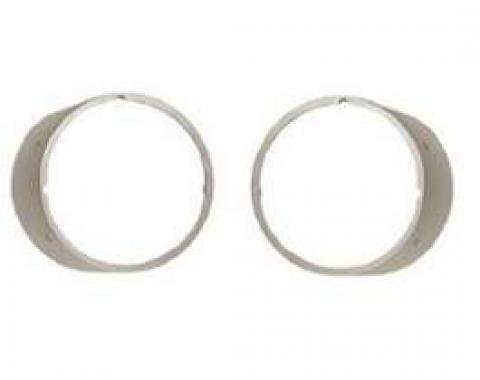 Camaro Headlight Bezels, For Cars With Standard Trim (Non-Rally Sport), Without Chrome Trim Ring, Left & Right, 1969