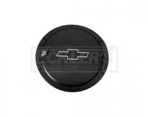 Camaro Bowtie Two-Tone Locking Fuel Door, DefenderWorx, 2010-2014