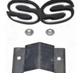 Camaro Super Sport Grille Emblem, For Cars With Standard (Non-Rally Sport) Grille, 1968