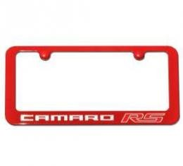 Camaro RS Painted Rear License Plate Frame, Silver Ice