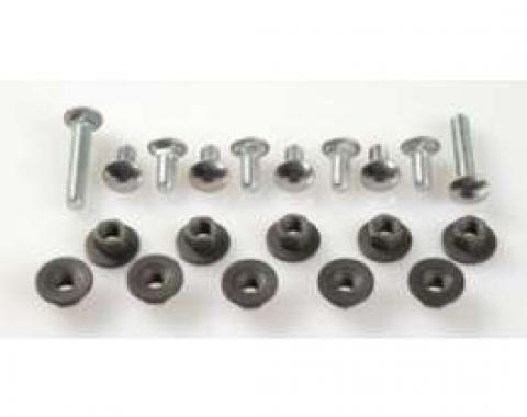 Camaro Bumper Mounting Bolt Set, Front & Rear, Stainless Steel Capped, 1968-1969