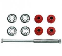 Camaro Sway Bar End Link Set With Red Bushings, Front, 1970-2002