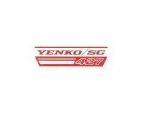 Camaro Fan Shroud Decal, Yenko/SC 427, 1967-1969