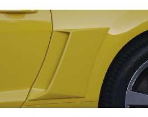 Camaro Quarter Panel Scoops, With Black Vinyl Inserts, 2010-2014