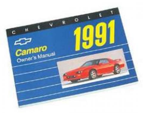 Camaro Owner's Manual, 1991