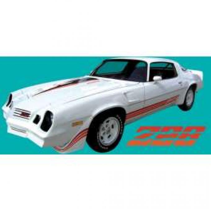 Camaro Stripe Kit, Z28, Warm Gold Metallic/Gold Metallic/Light Gold, 1980-1981