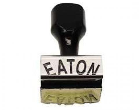Camaro Eaton Clutch Fan Stamp, Curved Lettering, 1967-1969