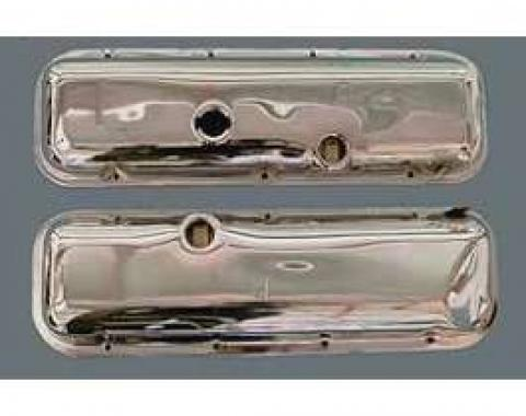 Camaro Valve Covers, Big Block, For Cars With Power Brakes, Chrome, 1970-1974