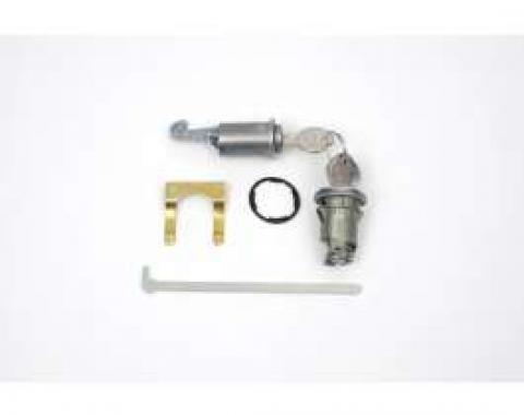 Camaro Glove Box & Trunk Lock Set, With Original Style Keys, 1967-1968