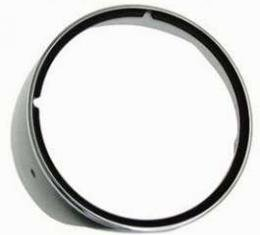 Camaro Headlight Bezel, For Cars With Standard Trim (Non-Rally Sport), With Chrome Trim Ring, Right, 1969