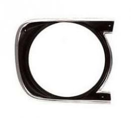Camaro Headlight Bezel, For Cars With Standard Trim (Non-Rally Sport), Right, 1968