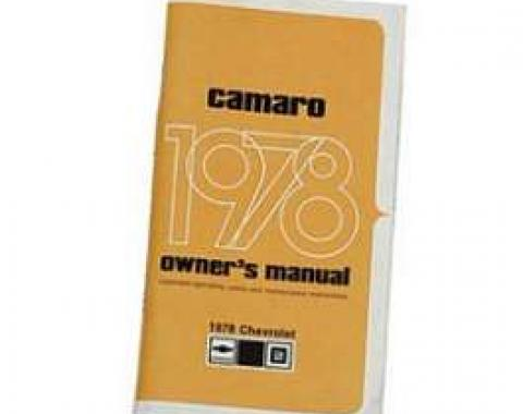 Camaro Owner's Manual, 1978