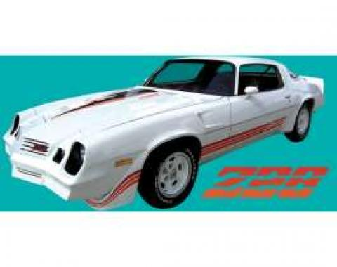 Camaro Stripe Kit, Z28, Vivid Blue/Vibrant Blue/Medium Blue, 1980-1981