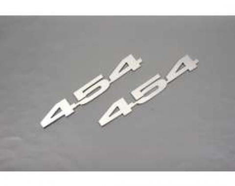 Camaro Hood Emblems, 454, Stainless Steel, 1967-1969