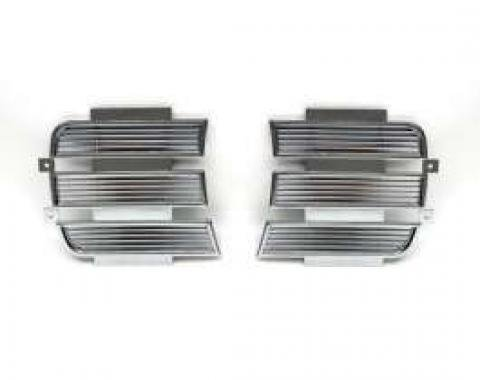 Camaro Headlight Door Covers, Inner, Chrome, Rally Sport (RS), 1969