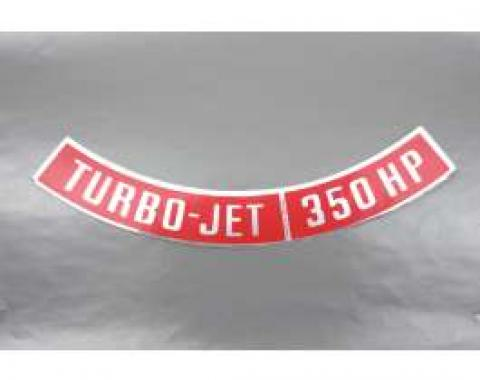 Camaro Air Cleaner Decal, Turbo-Jet 350 HP, 1968-1969