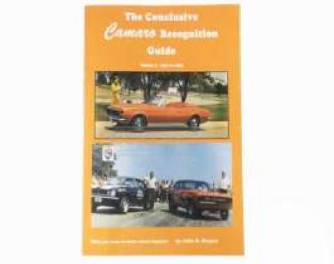 Conclusive Camaro Recognition Guide Book Volume Three 1970-1973