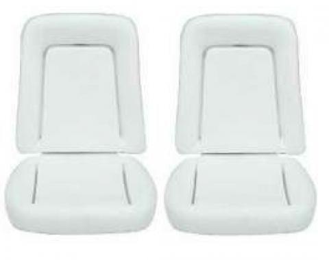 Camaro Bucket Seat Foam Cushions, Deluxe Interior, 1968