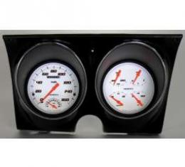 Camaro Updated Gauge Kit, Velocity White Series, Classic Instruments, 1967-1968