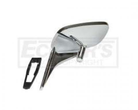 Camaro Outside Door Mirror, Right, Smooth Stem, 1968-1969