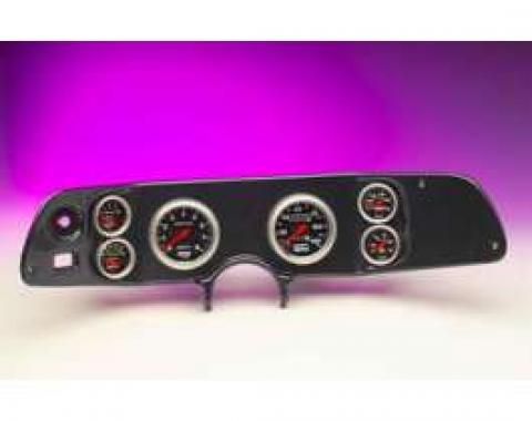 Camaro Dash Panel, With 6 AutoMeter Sport Comp II Gauges, Carbon Fiber, 1970-1978