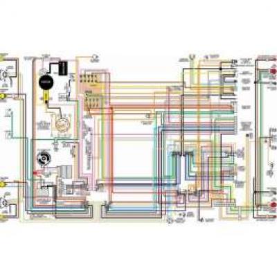 Camaro Color Laminated Wiring Diagram, 1970-1971
