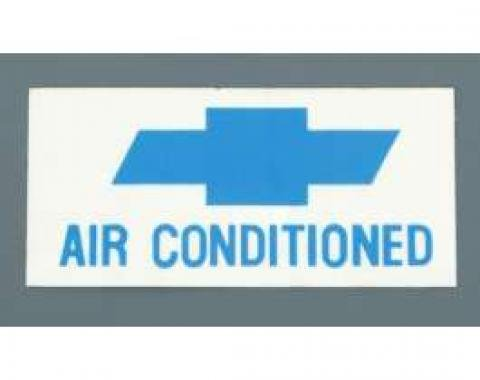 Camaro Air Conditioned Window Decal, 1967