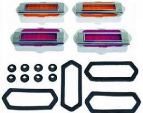 Camaro Side Marker Light Kit, With Gaskets & Mounting Nuts,1969