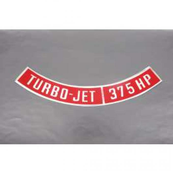 Camaro Air Cleaner Decal, Turbo-Jet 375 HP, 1967-1969