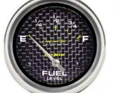 Camaro Fuel Lever Gauge, Carbon Fiber, AutoMeter