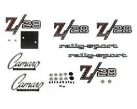 Camaro Emblem Kit, For Z28 With Rally Sport (RS) Package, 1969