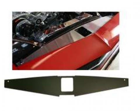 Camaro Core Support Filler Panel, Black Anodized, 1967-1969