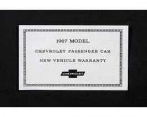 Camaro Warranty Certificate, 1967