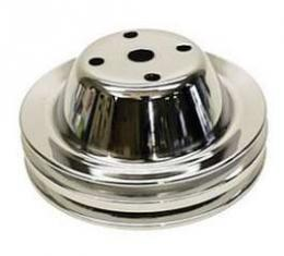 Camaro Water Pump Pulley, Small Block, Double Groove, Chrome, 1969-1985