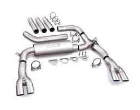 Camaro Exhaust System, 3 Cat Back Adjustable, Borla, V8, 1984-1992