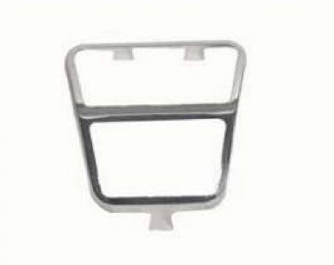 Camaro Clutch Pedal Pad Trim, Stainless Steel, 1972-1981
