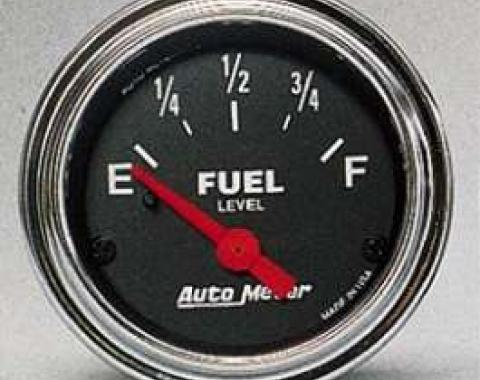 Camaro Fuel Level Gauge, Chrome, AutoMeter