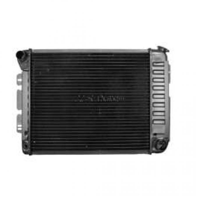 Camaro Radiator, Small Block, 4-Row Core, For Cars With Manual Transmission, U.S. Radiator, 1967-1969