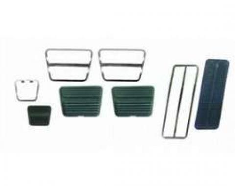 Camaro Pedal Pad & Trim Kit, For Cars With Drum Brakes & Manual Transmission, 1969-1972
