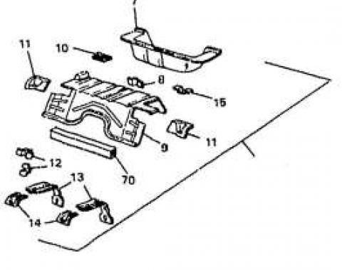 Camaro Floor Pan Kit, Rear, GM, 1993-2002
