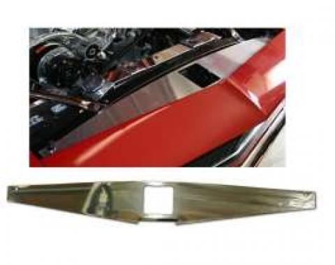 Camaro Core Support Filler Panel, Polished Aluminum, 1967-1969