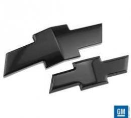 Camaro Emblems, Gloss Black Powder Coat, Front And Rear, 2010-2013