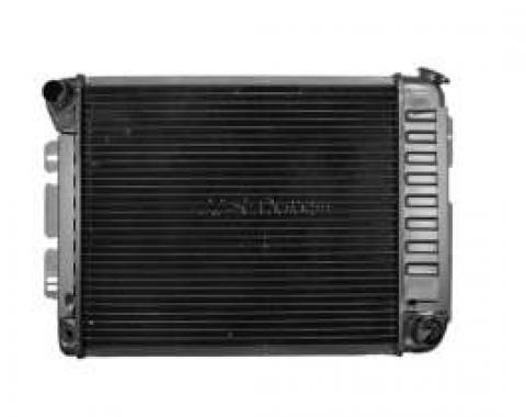 Camaro Radiator, Small Block, 4-Row Core, For Cars With Automatic Transmission, U.S. Radiator, 1967-1969