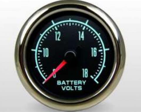 Camaro Voltmeter Gauge, 2 1/16, Marshall Instruments, Muscle Series, 1967-1969